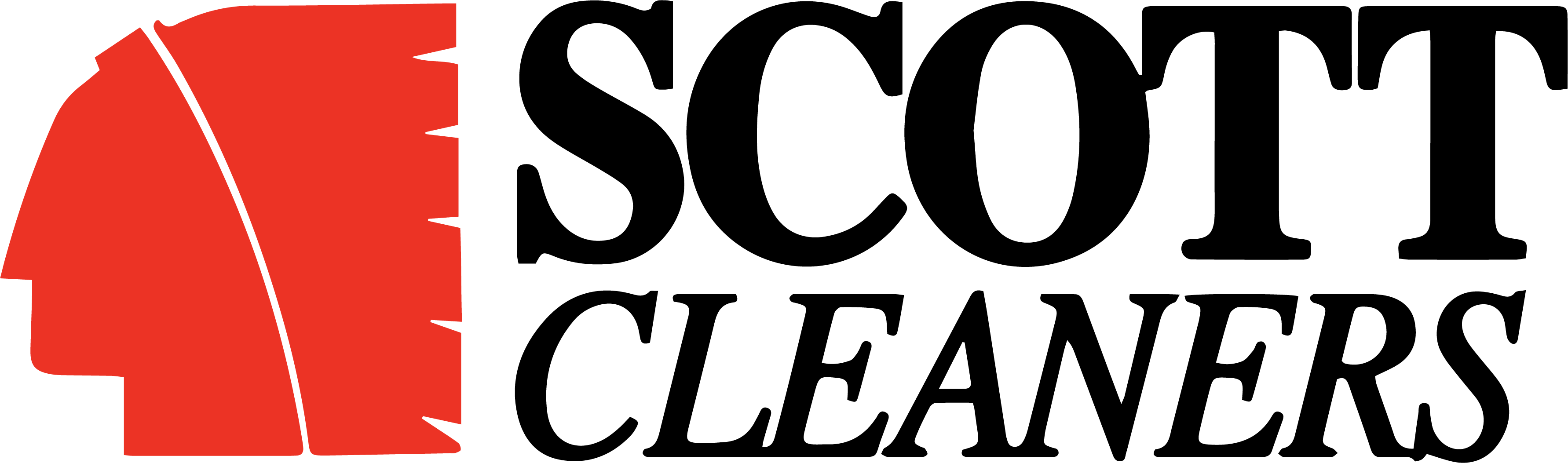Scott Cleaners Short Logo - Black